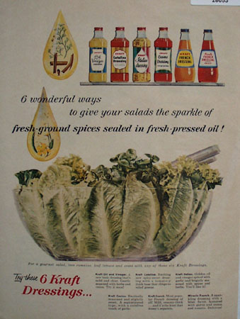 Kraft Dressings 6 Wonderful Ways Ad 1958
