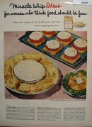 Miracle Whip Food Should Be Fun Ad 1958