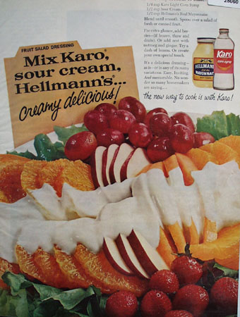 Hellmanns Mayonnaise And Karo Syrup Ad 1967