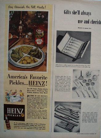 Heinz Pickles Americas Favorite Pickle Ad 1951