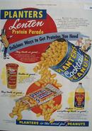 Planters Peanuts Lenten Protein Parade Ad 1954