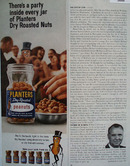 Planters Peanuts Theres A Party In Every Jar Ad 1967