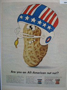 Skippy Peanuts Are You All American Nut Nut Ad 1966