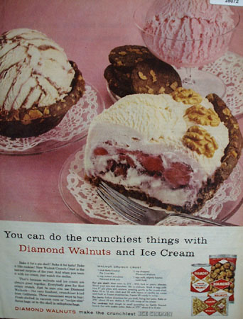 Diamond Walnuts Can Do Crunchiest Things Ad 1959