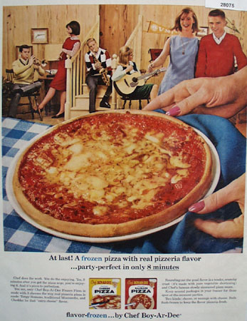 Chef Boy Ar Dee Pizza Party Perfect Ad 1964