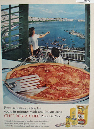 Chef Boy Ar Dee Pizza Pie Mix Italian As Naples Ad 1958