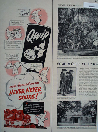 Qwip Made From Real Cream Ad 1954