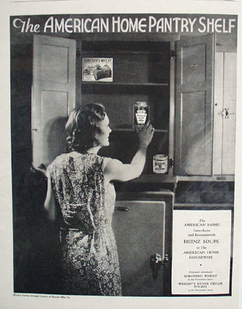 Heinz Soups And American Home Pantry Shelf Ad 1933