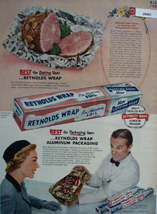 Reynolds Wrap Best For Baking Ham Ad 1957