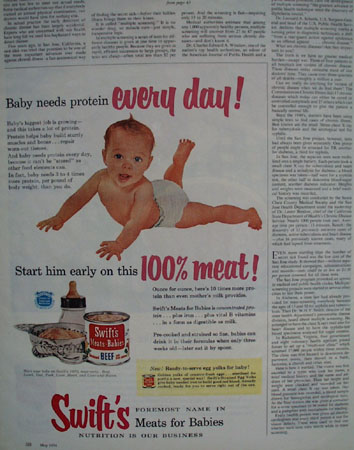 Swifts Meats For Babies Every Day Ad 1954