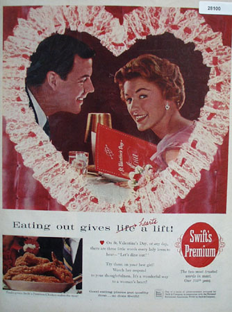 Swifts Premium Valentines Ad 1960