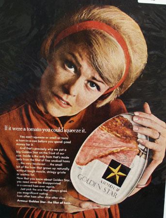 Armour Ham In A Can Ad 1967