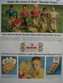Wonder Bread Make Most Of Wonder Years Ad 1966