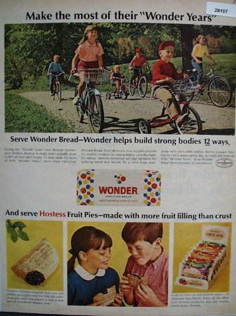 Wonder Bread Make Most Of Wonder Years Ad 1966
