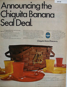 Chiquita Bananas Seal Deal Ad 1968