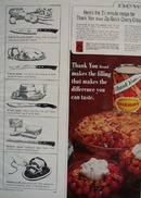 Thank You Pie Filling 2 1/2 Minute Recipe Ad 1960s