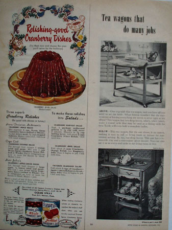 Ocean Spray Cranberry Relishes Ad 1951