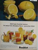 Sunkist Lemon Sassy Kiss Ad 1965