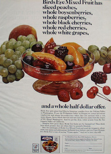 Birds Eye Mixed Fruit Half Dollar Offer Ad 1964