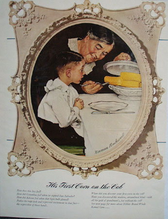 Norman Rockwell First Corn On The Cob Ad 1941