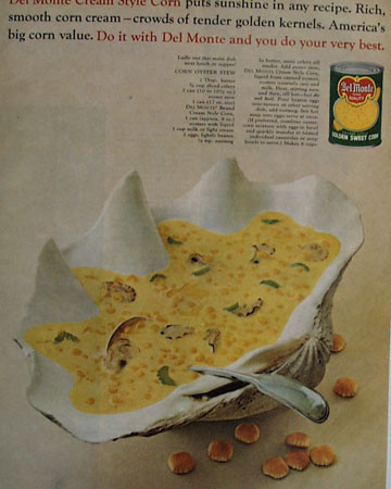 Del Monte Cream Corn Sunshine In Recipe Ad