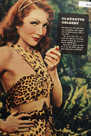 Claudette Colbert In Leopard Suit 1938