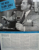 Clark Gable Picture and Article 1946