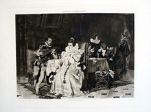 Georg Conrader Photogravure of Mary Stuart and Rizzio