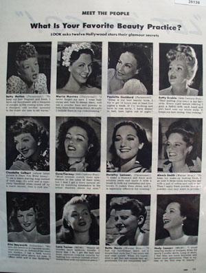 Betty Grable Rita Hayworth Hedy Lamarr 1944