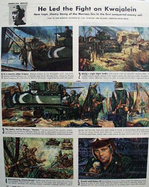 Capt Jimmy Denig Led Fight On Kwajalein Pictures 1944