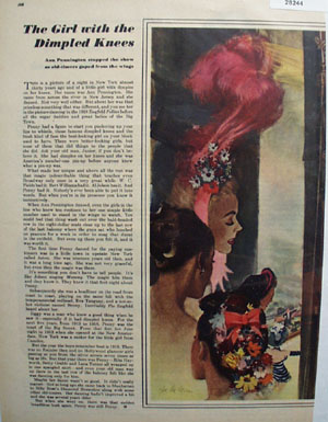Girl With Dimpled Knees Article and Picture 1947