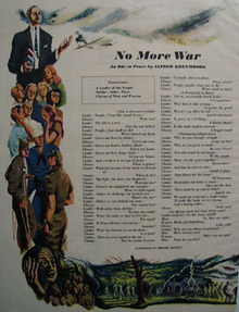 No More War by Alfred Kreymborg Ode 1948