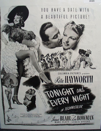 Tonight And Every Night Movie Preview Ad 1945