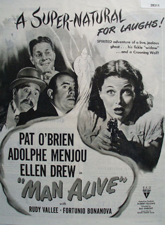 Man Alive Movie Preview Ad 1945