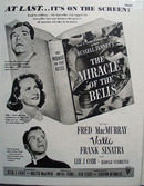 The Miracle Of The Bells Movie Preview Ad 1948
