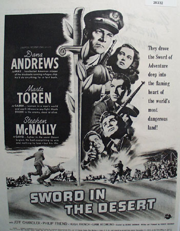 Sword In The Desert Movie Preview Ad 1949