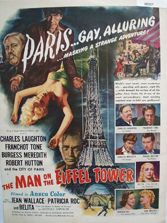 The Man On The Eiffel Tower Movie Ad 1950