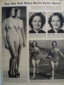 Gloria And Barbara Brewster Movie Twins Picture 1938