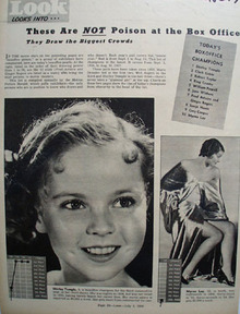 Shirley Temple Top At Box Office Article Picture 1938