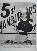 Betty Grable 5 cent Hamburger NY Worlds Fair Article 1939