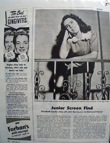 Elizabeth Taylor In National Velvet Movie Ad 1945
