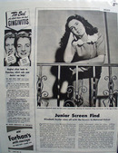 Elizabeth Taylor In National Velvet Movie Ad 1945