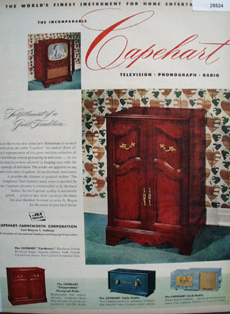 Capehart television ad  November 11 1951