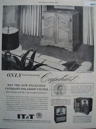 Capehart television ad February 27, 1954