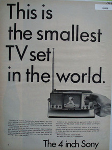 Sony portable television ad September 18,1964