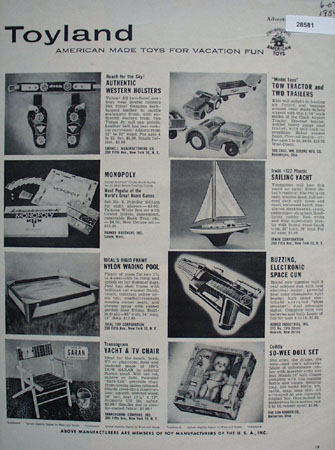 Toy Manufacturers of the U S A ad June 7, 1954