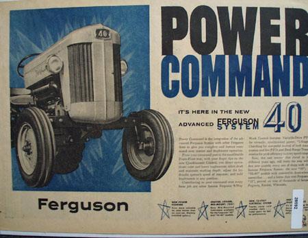 Ferguson Tractor  ad May 15, 1956