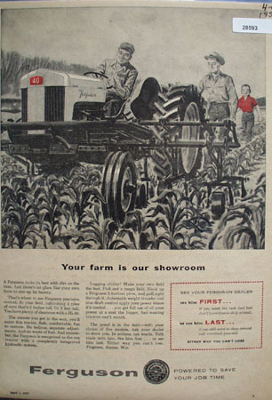 Ferguson Tractor ad April 1, 1957