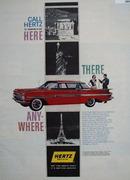 Hertz Rent A Car Ad  May 5, 1959
