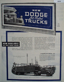 Dodge Trucks Ad January 13, 1945